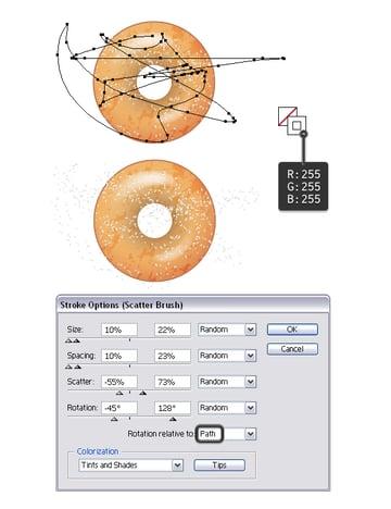 add sugar on donut 1
