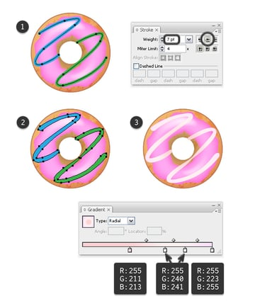 create icing on strawberry donut 1
