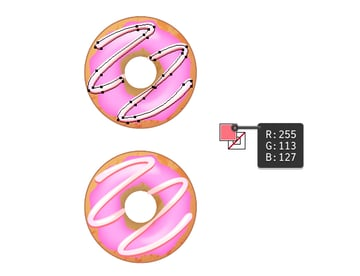 create icing on strawberry donut 3