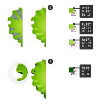 create piece of lettuce 3