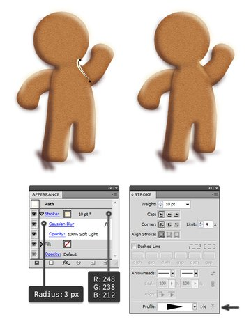 add highlights to gingerbread man 2