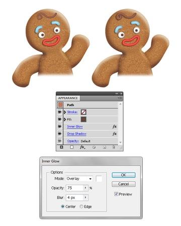 create gingerbread man hair 2