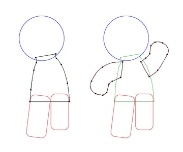 create gingerbread man body 2