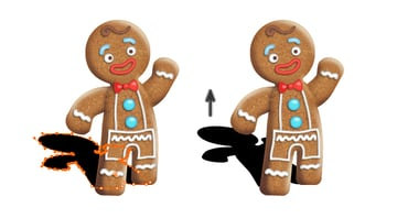 create gingerbread man shadow 2
