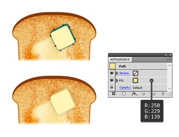 create melted butter on toast 4