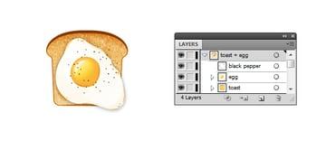 fried egg on toast icon