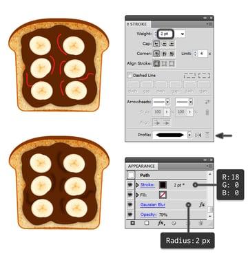 create chocolate spread on toast 2
