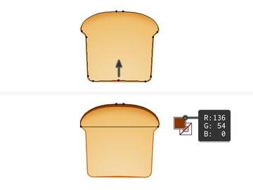 create vector toast icon 4