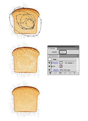 create vector bread texture 3