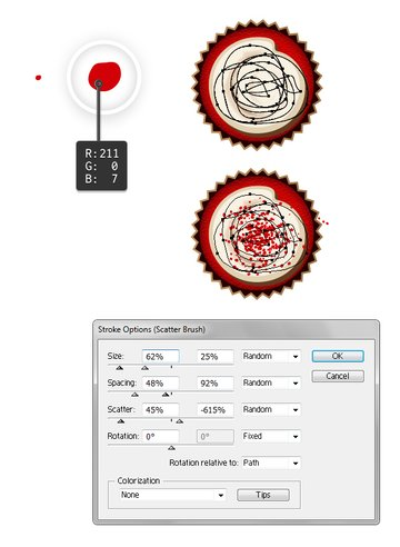 Create and use new scatter brush