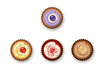 add shadow to other cupcakes
