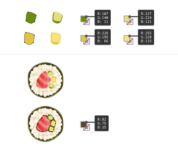 create a piece of cucumber and omelette for maki sushi filling