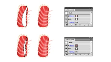 add shine to slice of tuna