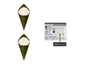 add shading to seaweed cone