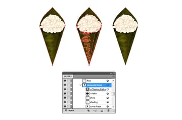 create a mask for the seaweed cone