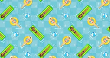 second version of the pool seamless pattern