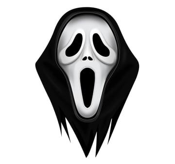 finished scream mask