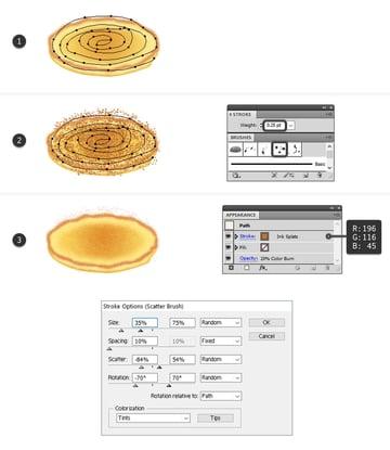 create tiny browned specks on pancake top