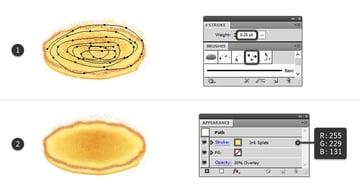 create tiny light specks on pancake top