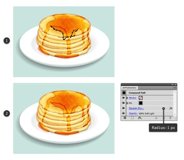 create shadow for smaller layers of syrup