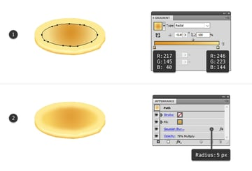 create browned center on pancake