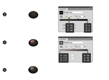 how to draw a vector black olive