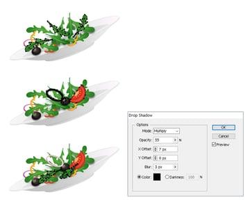 arrange other salad ingredients on plate