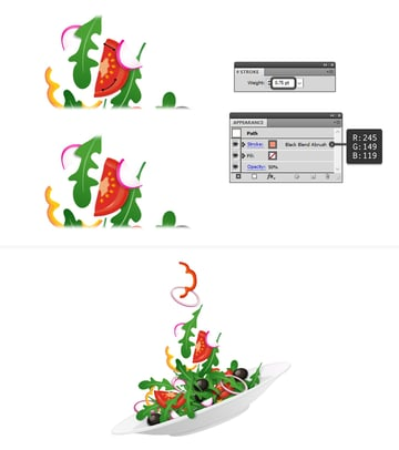 how to add highlights on tomato slices