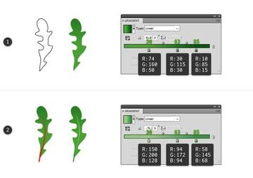 how to draw vector rocket arugula