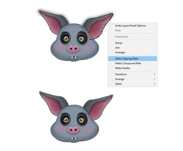 how to mask the bats ears