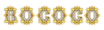 how to add shadow to decorative elements on Rococo letters