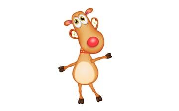 reindeer cartoon character without horns