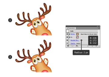 how to highlight the reindeers horns