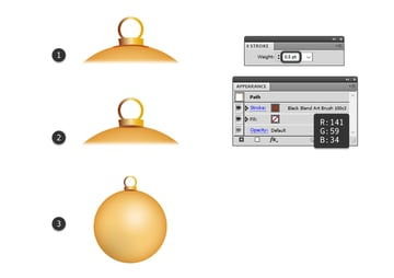 how to add shadow under hanging piece of the bauble