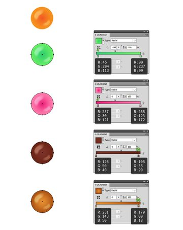 how to create colorful candy