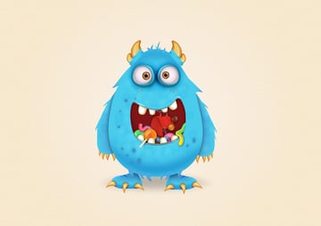 final image of candy monster cartoon character