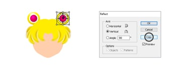 how to create sailor moons left hair circle