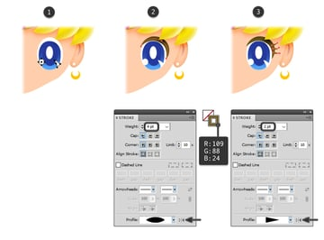 how to add details on sailor moons right eye