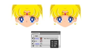 how to draw sailor moons eyebrows nose
