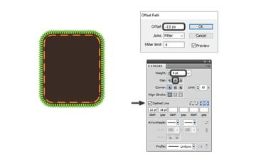 how to create dashed line for Oreo design