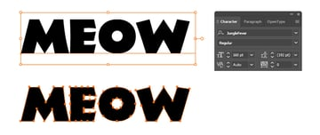 how to write the Meow text
