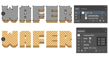 how to add texture on wafer letters