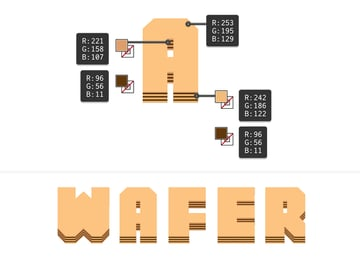 how to color the wafer layers