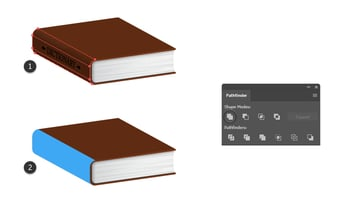 how to create the side shape of the book