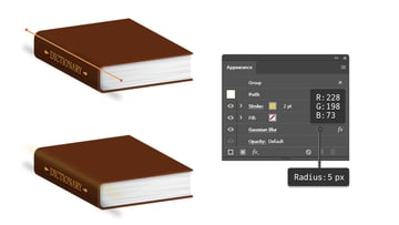 how to create highlight on side of book