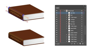 how to mask shading and highlight on side of book