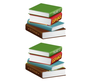how to create shadows in the stack of books