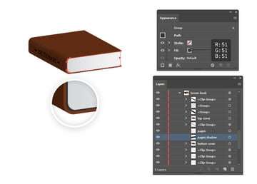 how to create shadow under book pages
