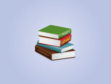 stack of 3D books final image
