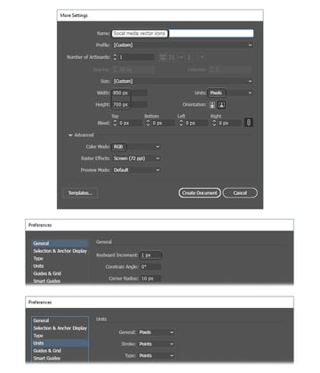 how to create new Illustrator document